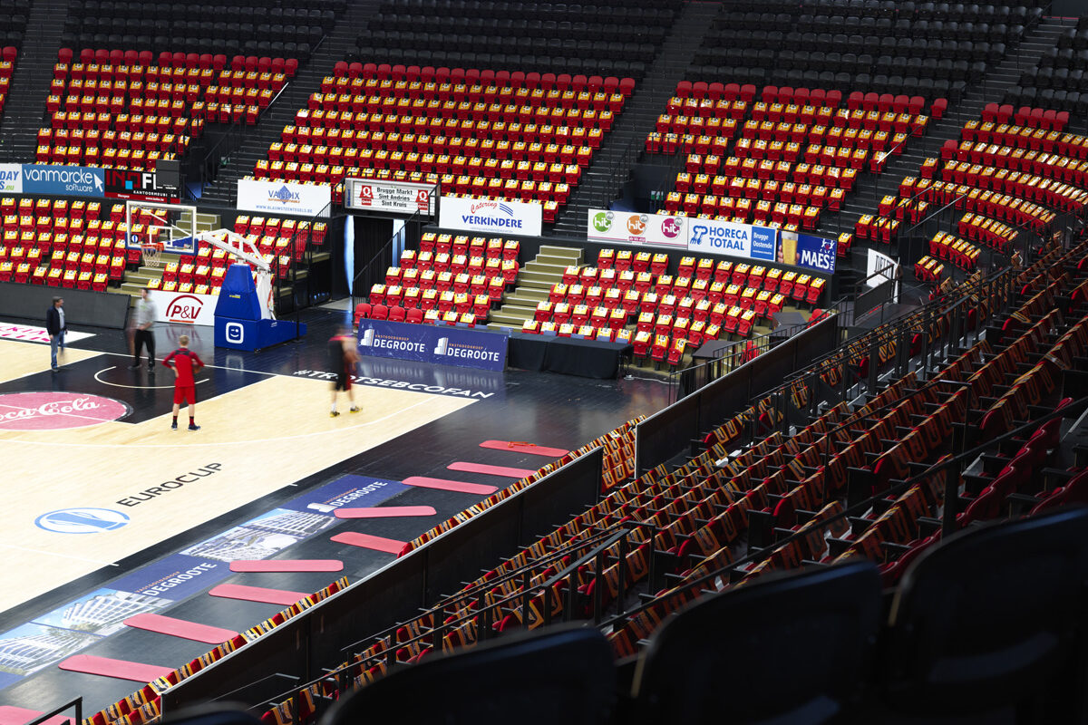 Basket stadion binnen